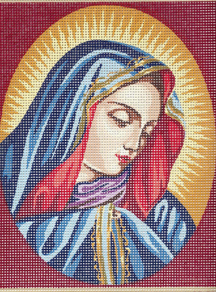 Our Lady of The Thumb Small Needlepoint Canvas, NOT A KIT GOBELIN L