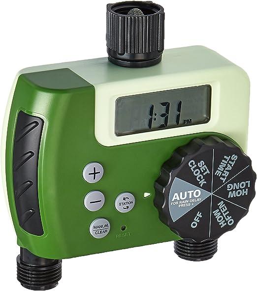 ORBIT UNDERGROUND Digital Watering Timer, 2-Outlet: Amazon.es: Jardín
