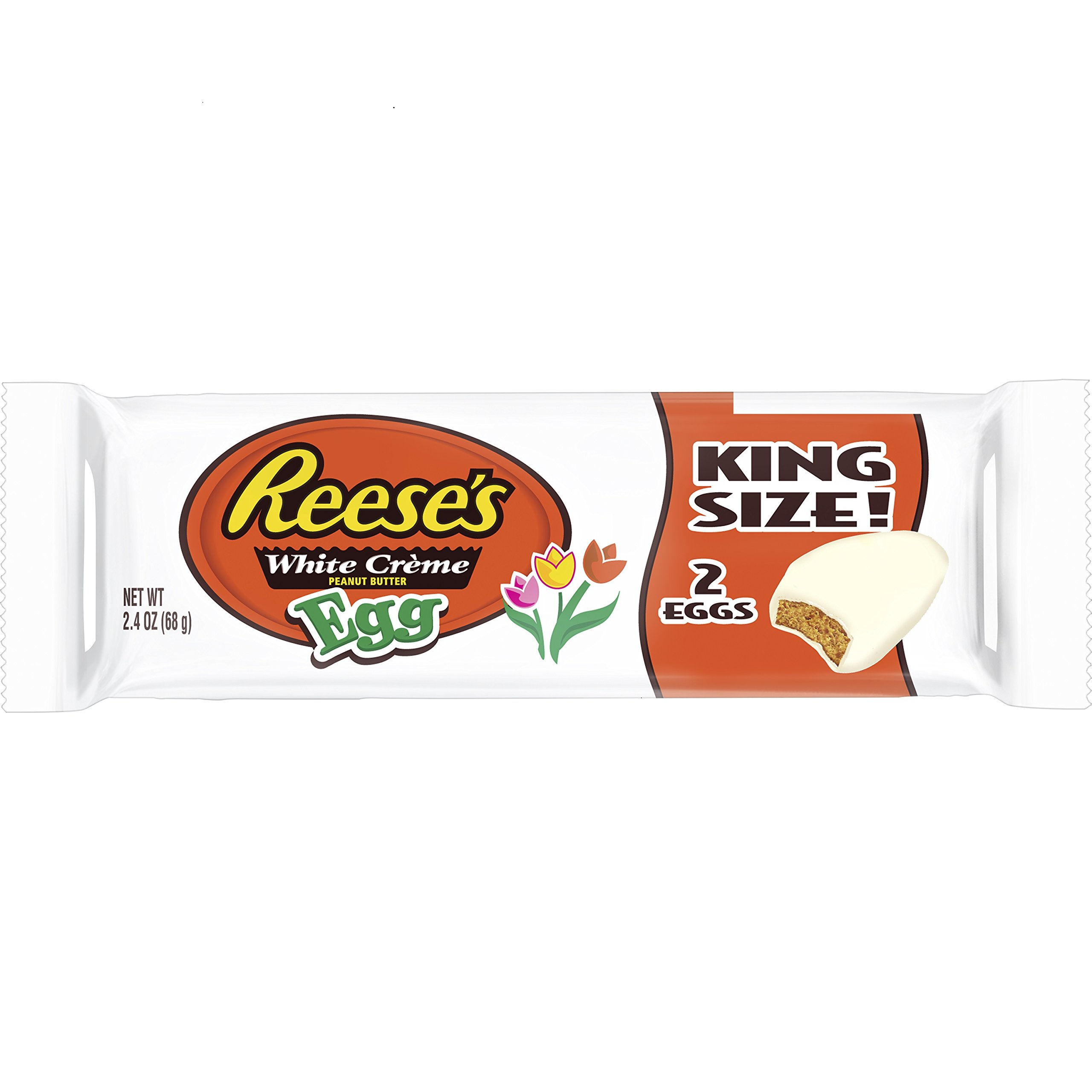 REESE'S White Cr√me Peanut Butter Egg, White Creme Covered Peanut Butter Egg Shaped Candy in Packaging, 2.4 Ounce Package (Pack of 24) by Reese's