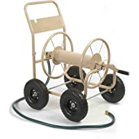 Liberty Garden 870-M1-2 Industrial 4-Wheel Garden Hose Reel Cart, Holds 300-Feet of 5/8-Inch Hose - Tan