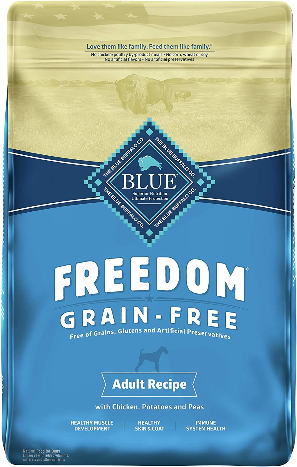 Blue Buffalo Freedom Grain Free Recipe for Dog, Chicken Recipe, 11 lb