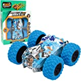 ZhiLoeng Pull Back Cars,Friction Powered Vehicles,Inertia-Double Side Stunt Graffiti Car Off Road Model Toy Car Best…