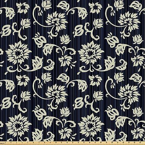 Amazon Com Ambesonne Vintage Fabric By The Yard Retro Romantic