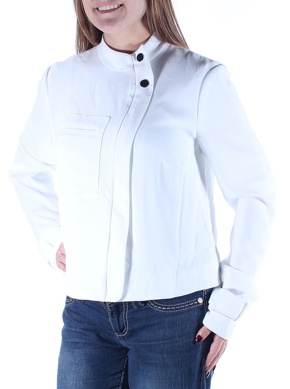Rachel Roy $149 Womens New 1689 White Zip Up Wear to Work Jacket 8 B+B