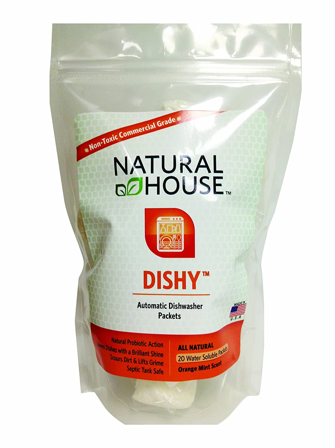 Natural House Dishy : Automatic Dishwasher Packets 20 ct