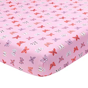 Bedtime Originals Fitted Crib Sheet, Magic Garden Fitted, Multicolor