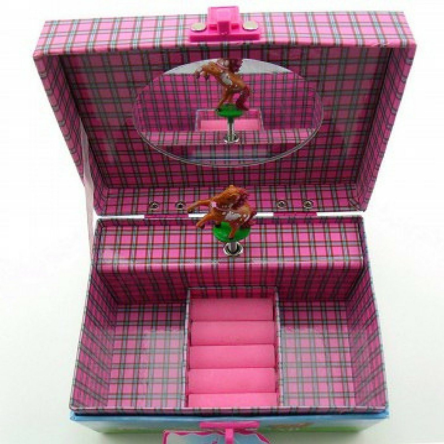 Horse Musical Jewelry Box for Girls - Beautiful Musical Necklace Box that comes with a Free Cool Gifts Yellow Necklace - The Perfect Girl Gifts for Cowgirls and Horse Lovers by BoomBoxHub (Image #4)
