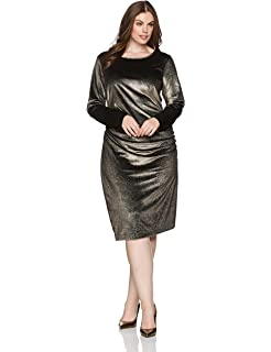306d9649e43 RACHEL Rachel Roy Women s Plus Size One Shoulder Bell Sleeve Dress ...