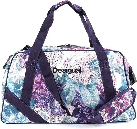 Desigual Damen Sporttasche Fitness Yoga Freizeit Tasche Gym Bag Art&Thread Carry Bag 18WQXW043020, Magenta Haze (Violett Blau Weiß), One Size