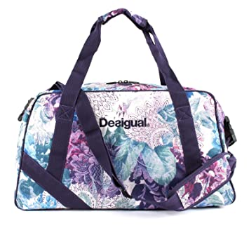 Desigual Art and Thread Carry Shoulder Bag Magenta Haze ...
