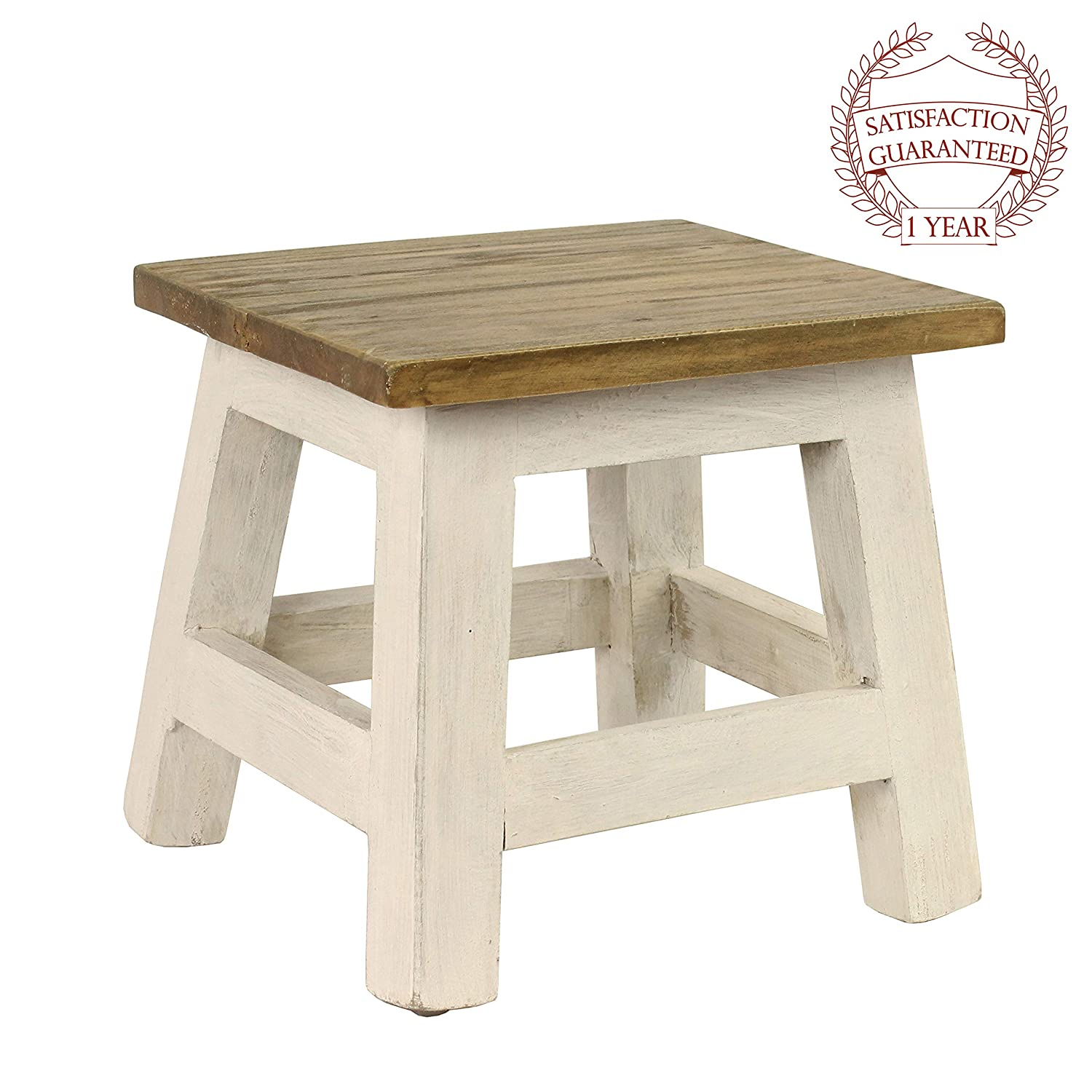 Pleasant Antique Revival Goya Wood Step Stool Accent Made Of Mahogany In Chic Lightly Distressed Finish Square Seat For Home Use One Size White Bralicious Painted Fabric Chair Ideas Braliciousco