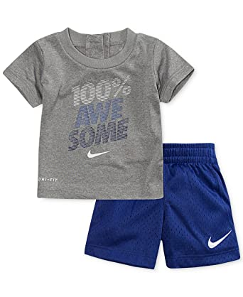 04ca9ec8e Amazon.com: Nike Baby Boys' Graphic T-Shirt and Shorts 2-Piece Set: Clothing