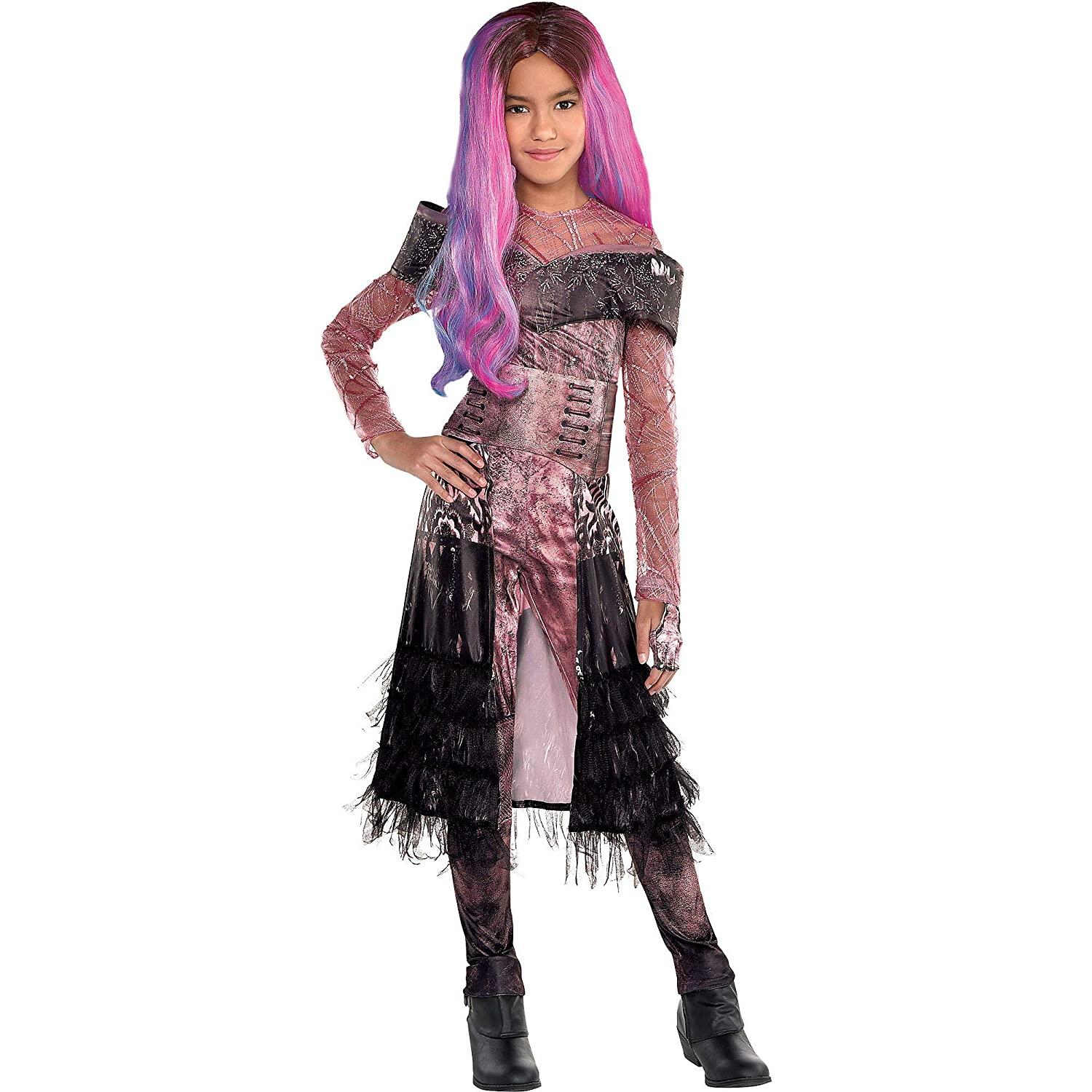 Party City Audrey Halloween Costume for Girls, Descendants 3, Medium,  Includes Accessories