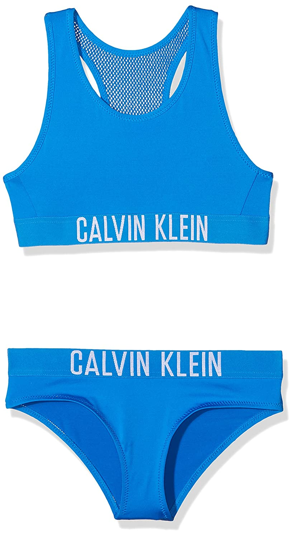 Calvin Klein Girl's Bralette Bikini Set Swimwear G80G800017