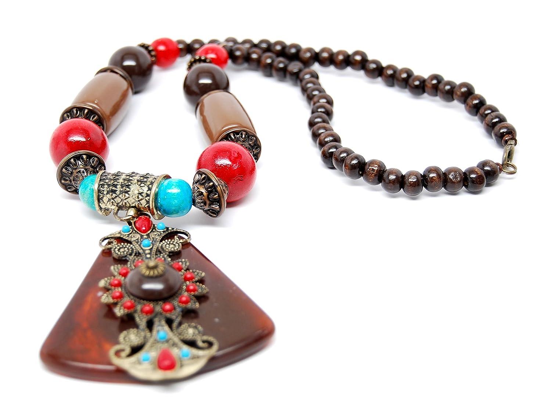 AZVJNE006-ABR Vintage Antique Gold Finish Necklace