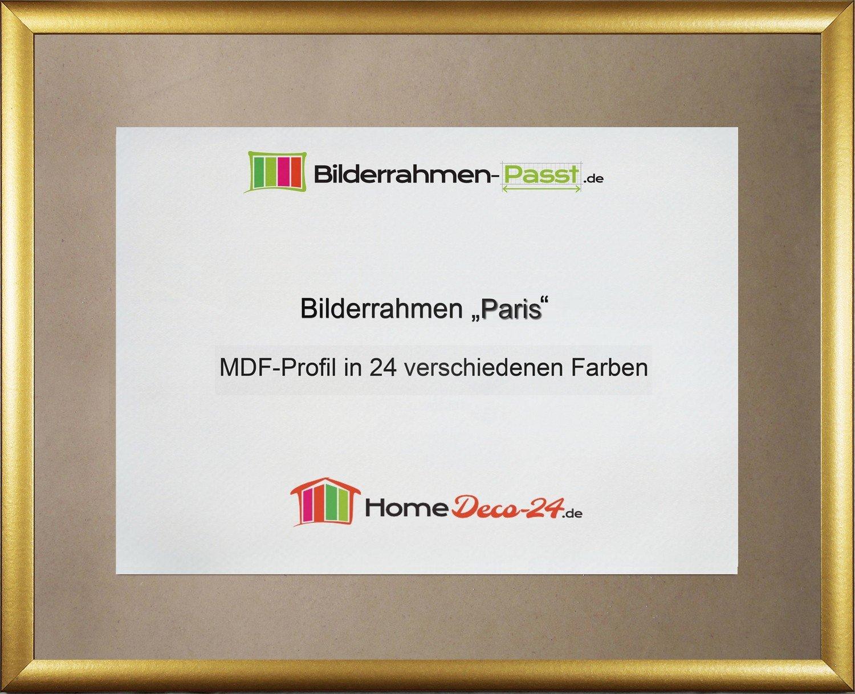 Amazon.de: Paris MDF-Bilderrahmen 33x48 cm, schmale Leiste, 48x33 cm ...
