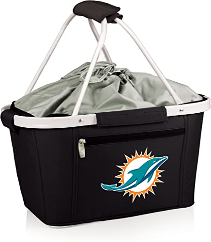 NFL Miami Dolphins Metro Insulated Basket, Black