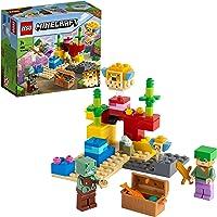 LEGO Minecraft Mercan Kayalığı 21164 - Çocuklar için Alex, Boğuk ve Balığı İçeren fiziksel Minecraft Deniz Oyuncağı…