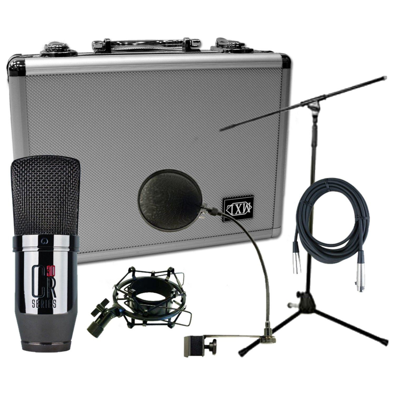 MXL cr30 Large Diaphramコンデンサー録音マイクW /ケース、ショックマウント、Popフィルタ、20 ' XLRケーブル B00C2CI35S