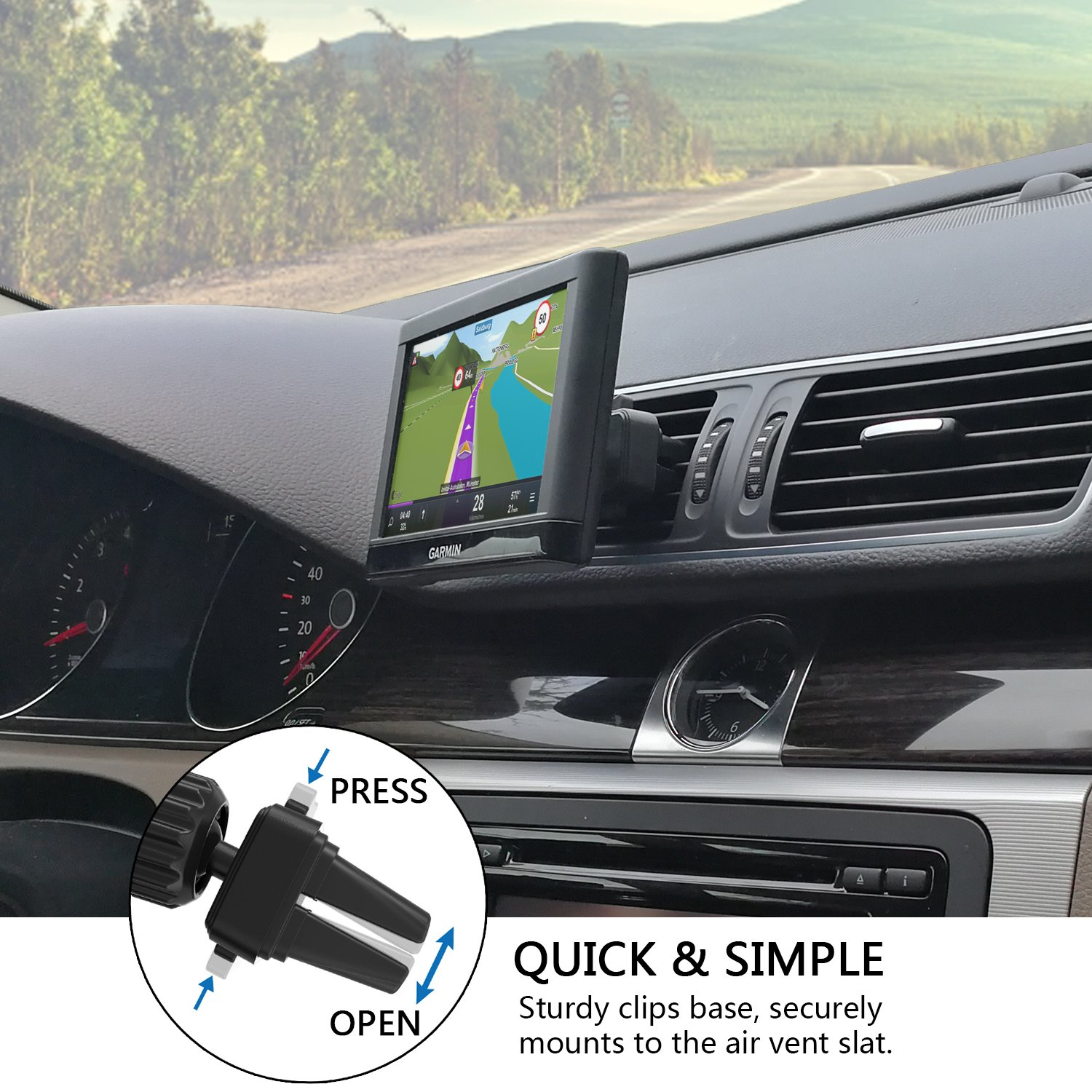 Car vent mount apps2car car mount air vent holder easy - Support gps garmin grille ventilation ...