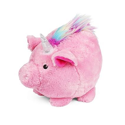 Amazon.com: Jumbo Piggy Bank de unicornio rosa de felpa, Hug ...