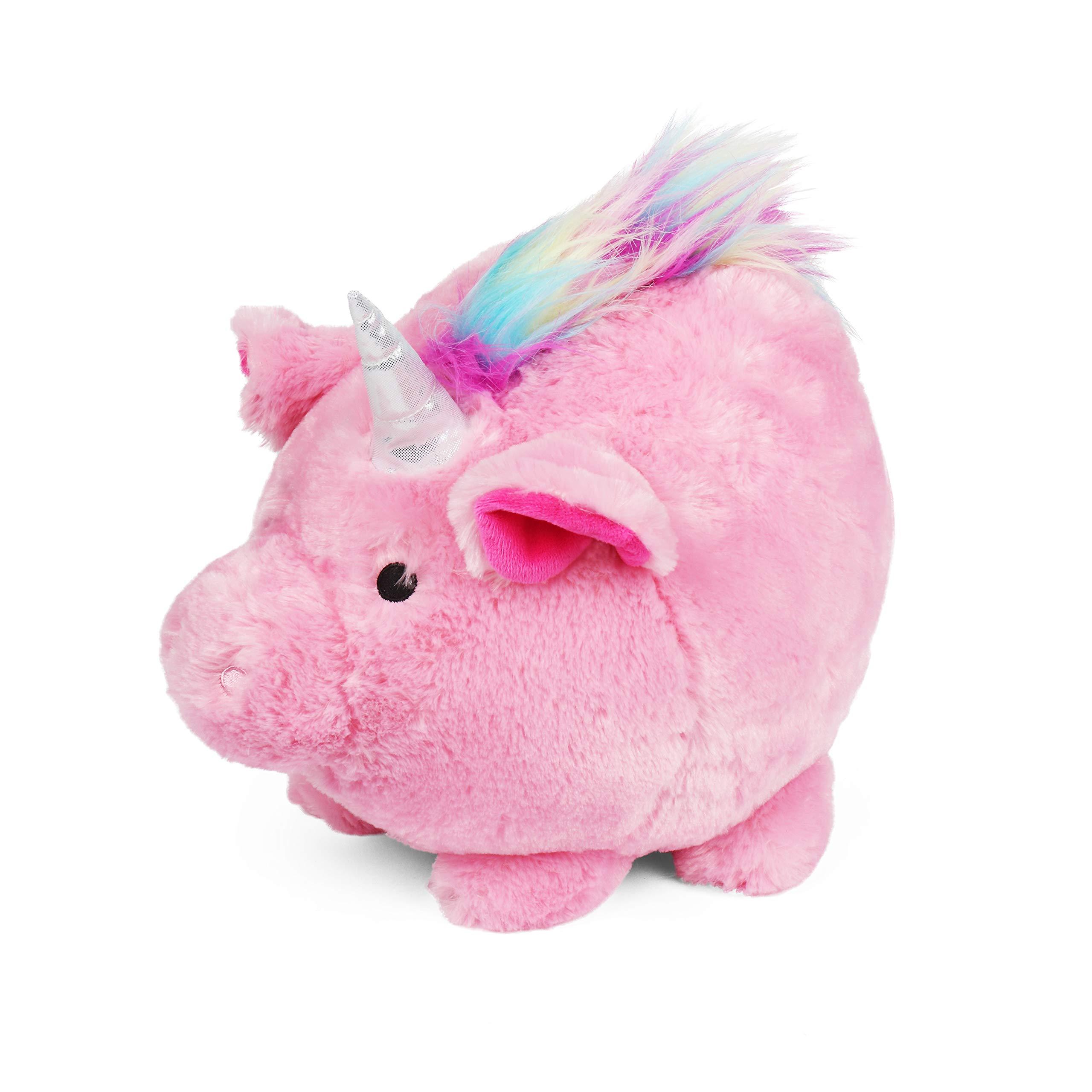 Jumbo Plush Pink Unicorn Piggy Bank, Hug Me and Fill Me!