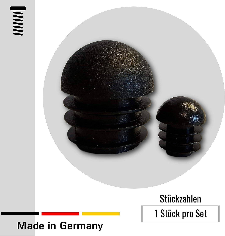 4 almohadillas//tapones de cabeza redonda para tubos redondos con un espesor de pared de 1,5-2 mm