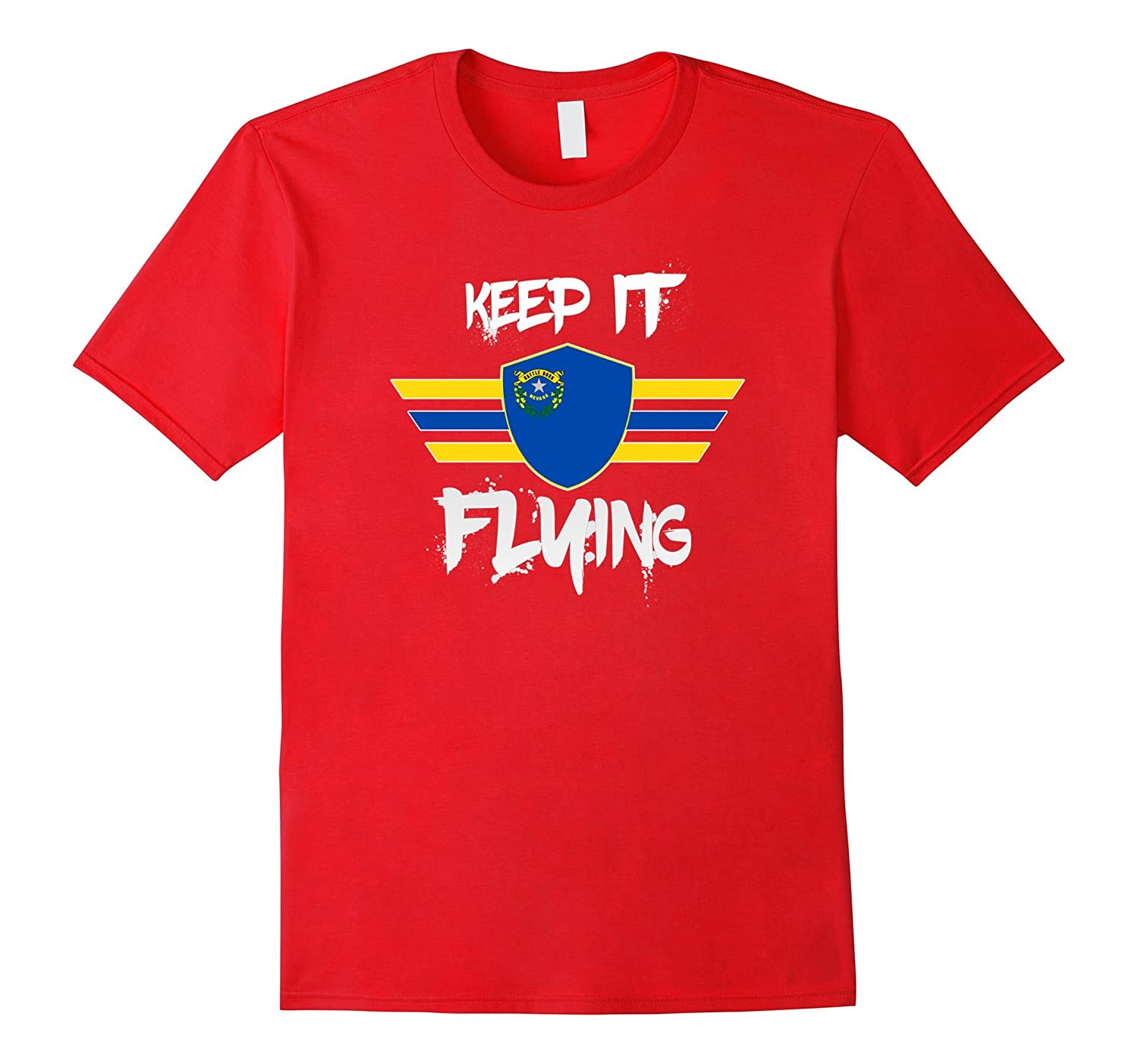 Keep It Flying Nevada State Flag American T-Shirt-TH