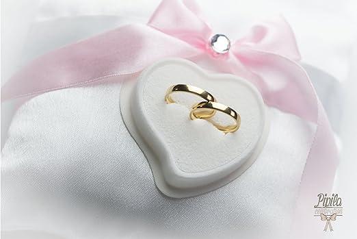 Cojín para anillo de boda, soporte para anillo de compromiso ...