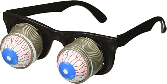 Details about  /Out Eye Glasses Droopy Eye Spring Glasses Halloween Costume Party Joke