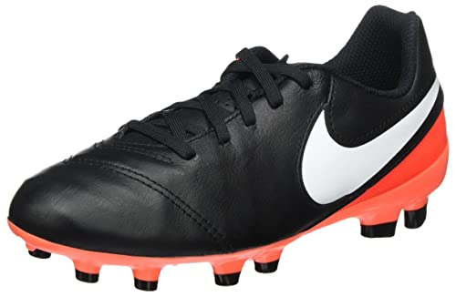 super popular 368f9 17b41 Image Unavailable. Image not available for. Color  NIKE Kids JR Tiempo  Legend VI Fg Black White ...