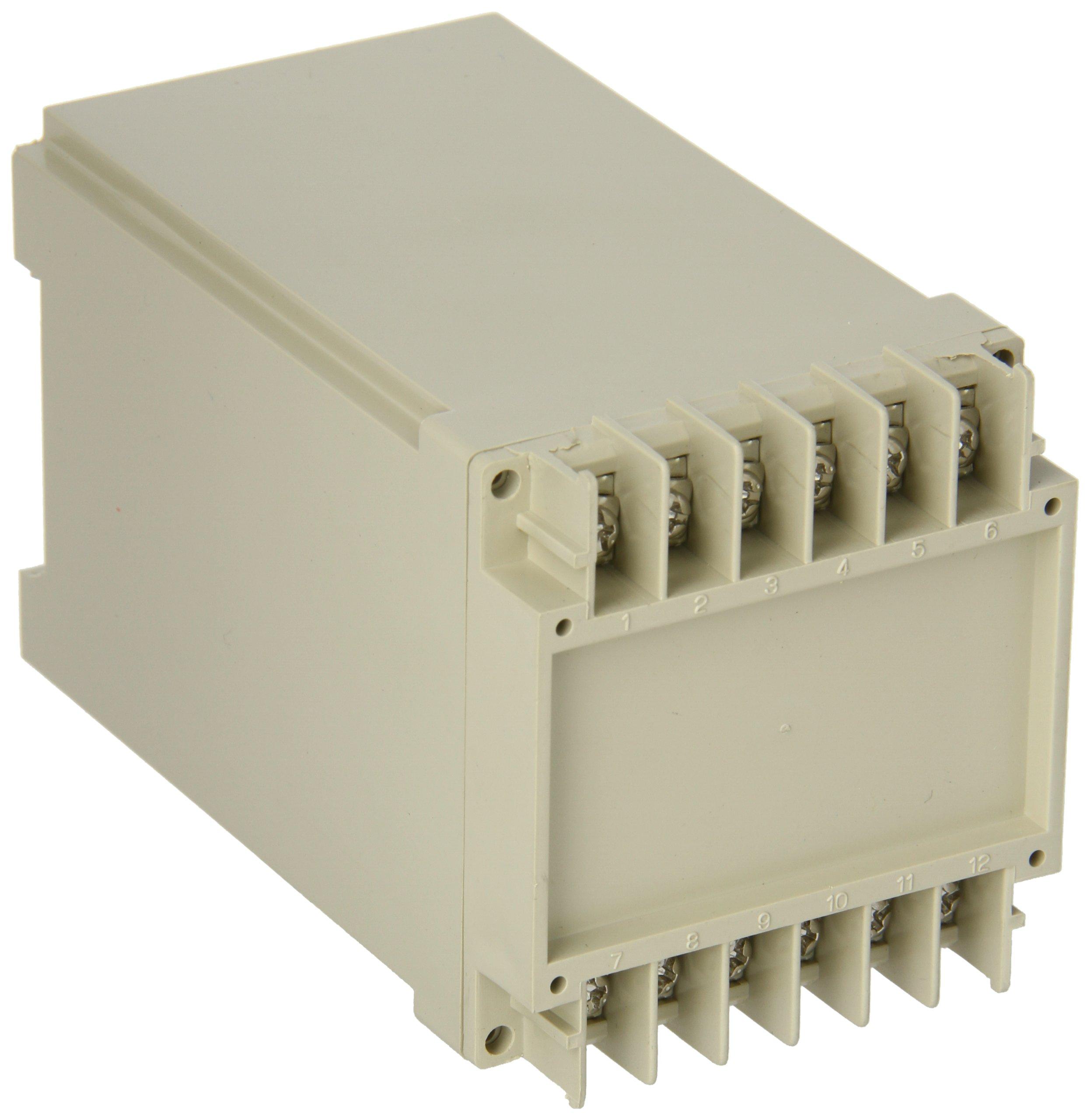BUD Industries DB-4701 Plastic DIN Rail Mount Box, 2-9/16'' Width x 2-3/4'' Height x 4-13/32'' Depth, Light Gray Finish by BUD Industries (Image #1)