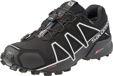 Salomon Speedcross 4 Gore-Tex (impermeable) Hombre Zapatos de trail running, Negro (Black/Black/Silver Metallic X), 40 EU