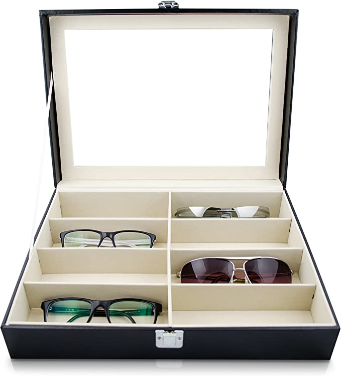 8 slots Boîte à lunette de soleil Organisateur Boîtier de