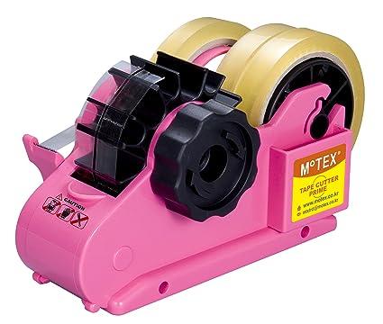 Dispensador de cinta adhesiva DOS OPCIONES DE CORTE - ROSA BRILLANTE