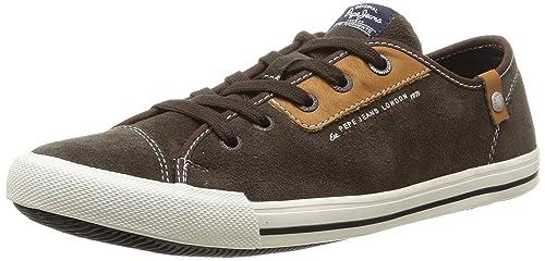 Pepe Jeans Britt Classic - Zapatilla Deportiva de Cuero Hombre: Amazon.es: Zapatos y complementos