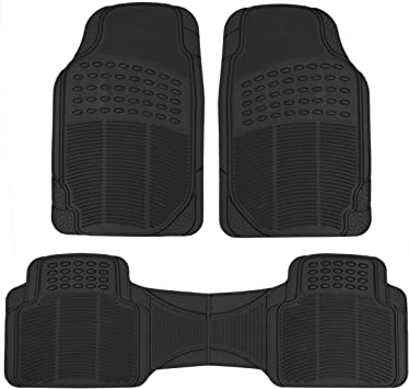 Black All Weather Protection Universal Fit ProLiner Original 3pc Heavy-Duty Front /& Rear Rubber Floor Mats for Car SUV Van /& Truck