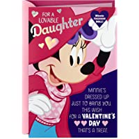 Hallmark Disney Minnie Mouse Valentines Day Card for Daughter with Paper Doll (Adorably Sweet)