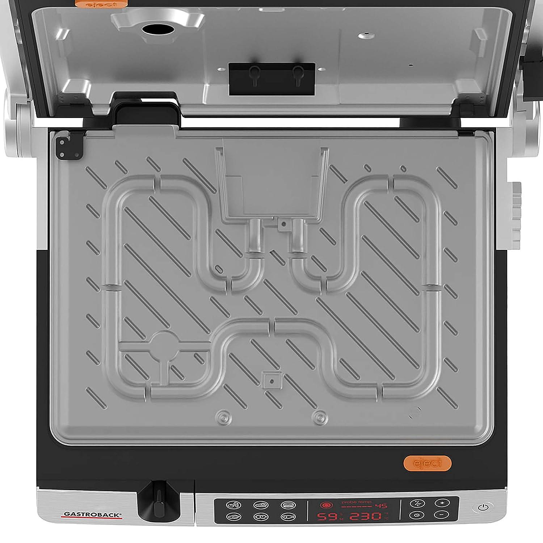 Barbecue in acciaio INOX argento//nero colore Gastroback 42539