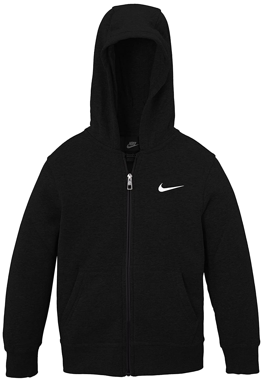 Nike- Felpa Con Cappuccio Bambino, Nero (Black/White), M (Taglia del produttore:10-12 Anni/137-147) 619069-010 619069_010-M