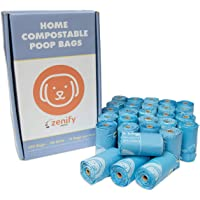 Zenify Pets Compostable Dog Poo Bags (420 Bags) - Certified Compostable Biodegradable Waste - Australian Owned