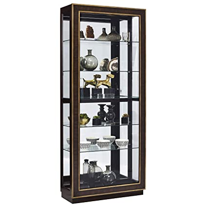 Pulaski P021587 Finley Sliding Door Curio Display Cabinet, 34.13u0026quot; X  13.75u0026quot; ...