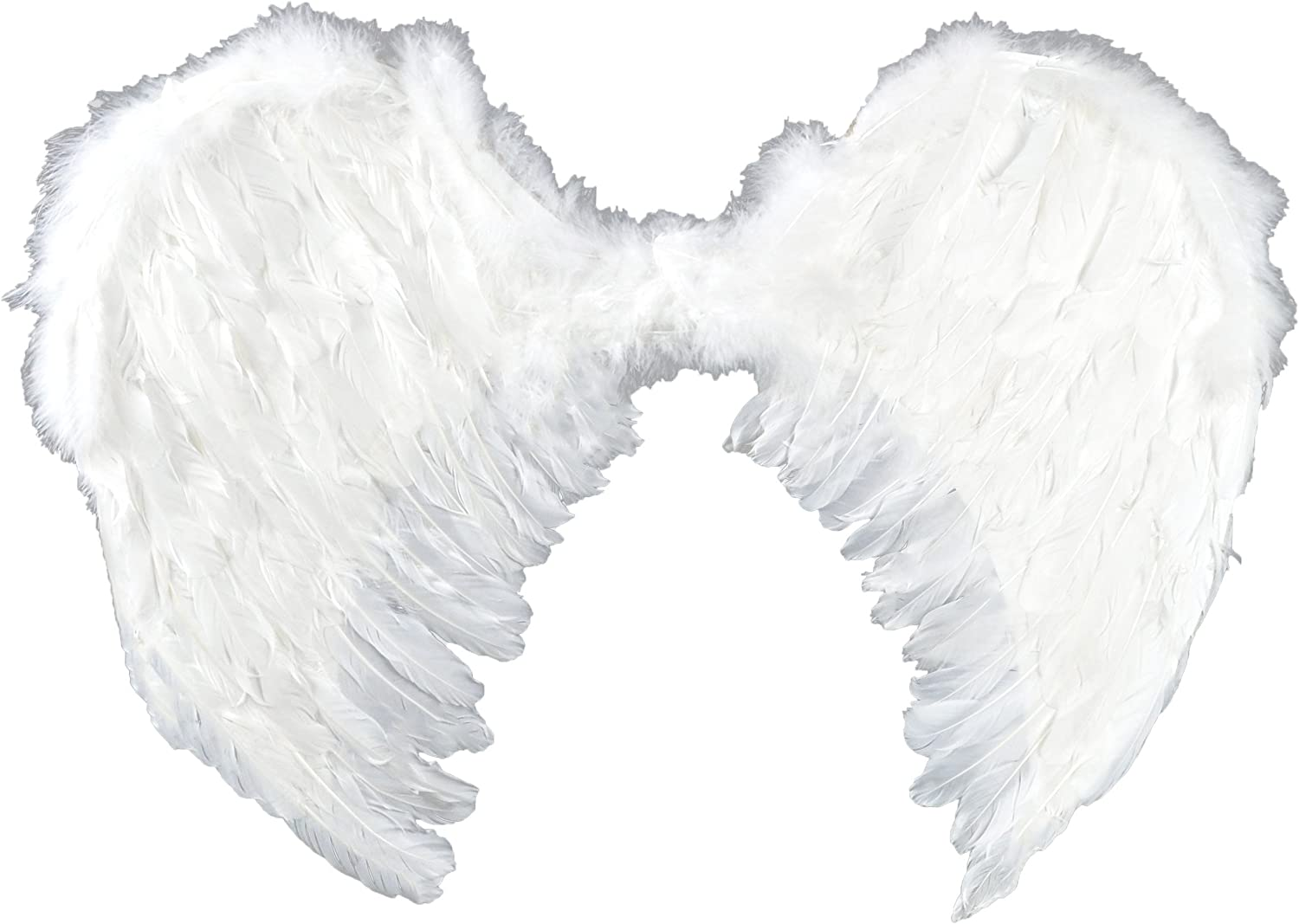"Touch of Nature - Adult Angel Wings - 22"" by 22"" - Feather Wings - White Angel Wings - Costume Accessories"