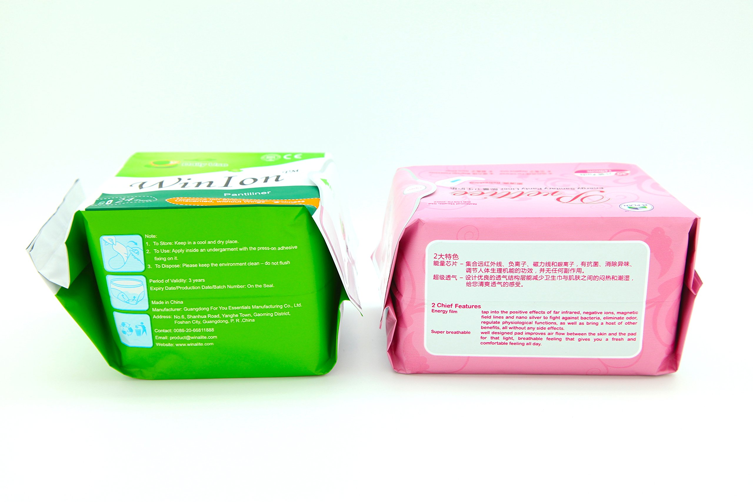 5 Pack Winalite Winion Anion Pantiliner With 5 Pack Prettie Energy Sanitary Panty Liner by Winalite (Image #3)