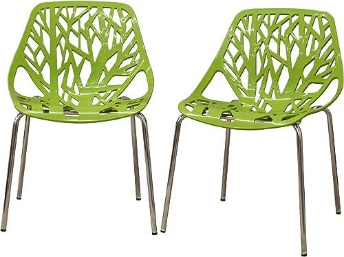 Baxton Studio Birch Sapling Plastic Modern Dining Chair