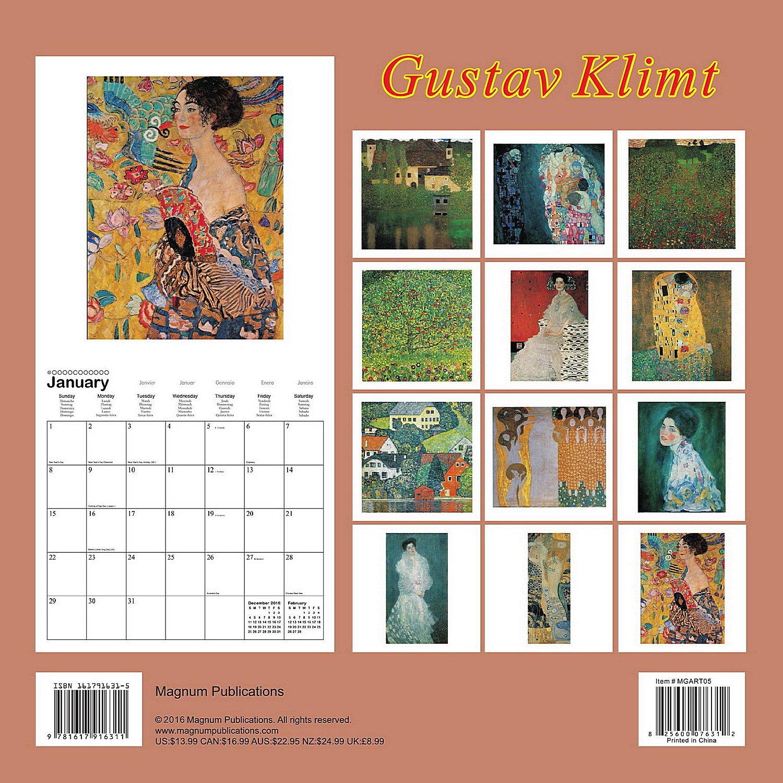 Gustav Klimt Calendar - 2017 Wall Calendars - Calendar 2016 - Art Calendar  - Famous Paintings Calendar by Magnum: MegaCalendars: 9781617916311:  Amazon.com: ...