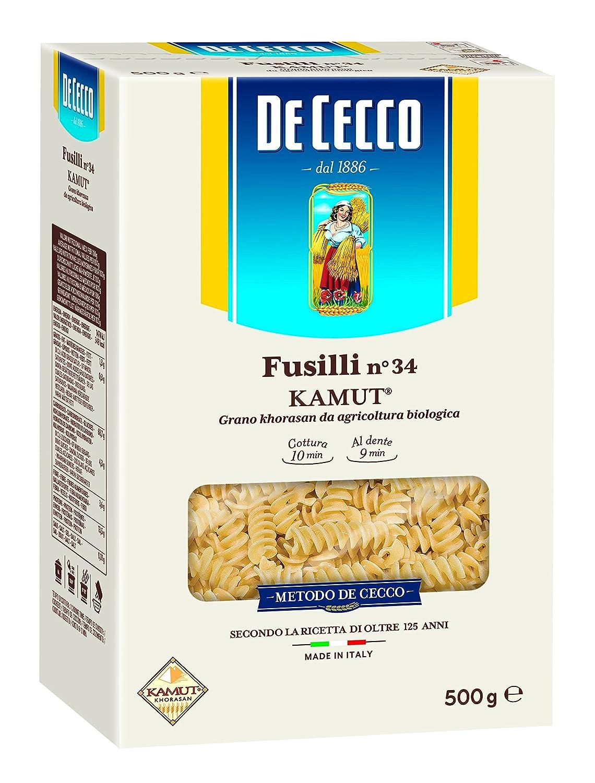 De Cecco Fusilli Pasta Kamut Cee , 1 Confezione, Prodotto Biologico  Amazon.it Alimentari e cura della casa