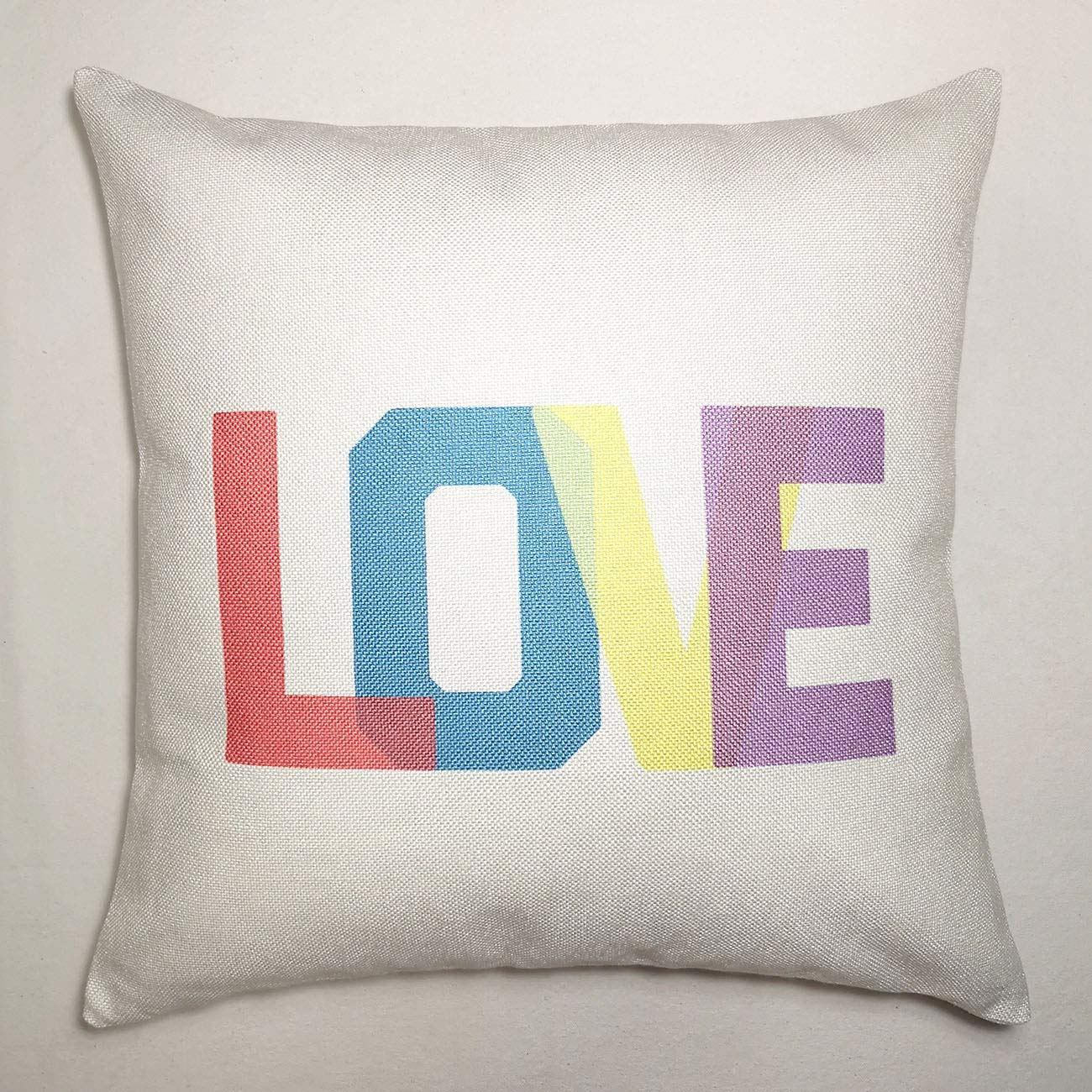 Turnip Design Abstract Art Love Letters Home Decor Wedding Housewarming Gift Cotton Cushion Cover Throw Pillow Case TDPN19