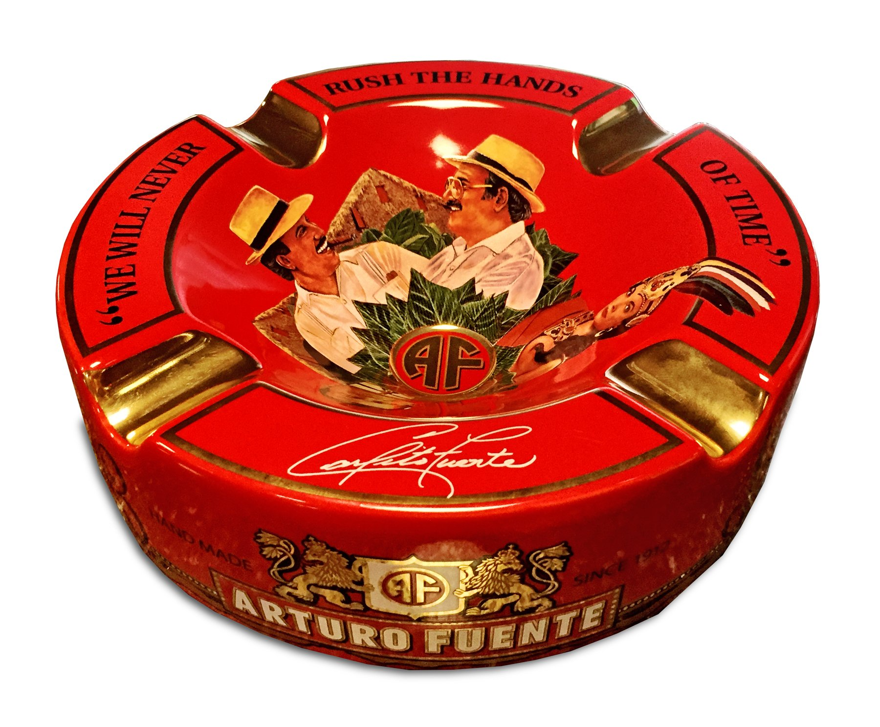 Limited Edition Large 8.75'' Arturo Fuente Porcelain Cigar Ashtray Red