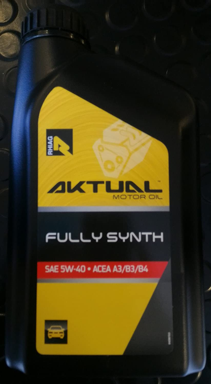 Aceite Motor Aktual Fully Synth - 5 W40 Acea A3/B3/B4 - 1 Litro: Amazon.es: Coche y moto